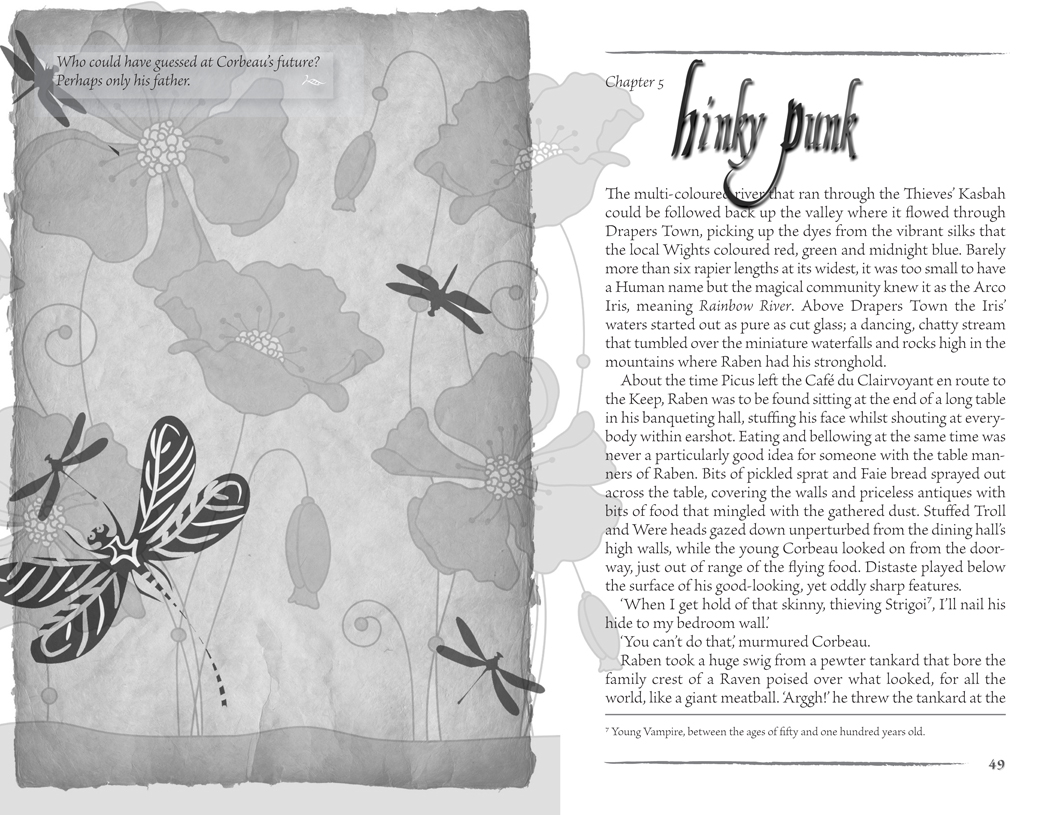 Example of a page spread design